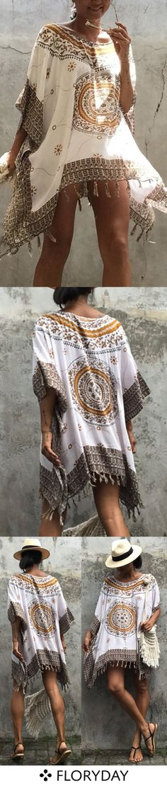 Beach wear and around the house wear. Hippie Chic, Boho Chic, Bohemian Style, Gypsy, Casual Dresses, Casual Outfits, Boho Fashion, Fashion Outfits, Beach Wear