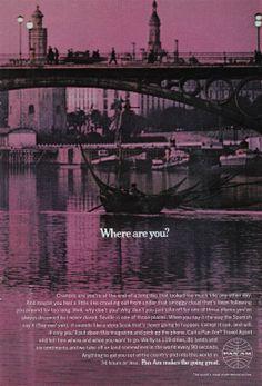 Amazon.com - 1969 Pan Am: Where are you?, Pan Am Print Ad