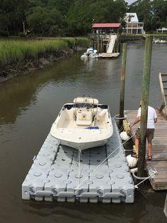 17.6 x 8 ft- 54 Block Lift-16' Carolina Skiff #Boating #Boat #DockBlocks…