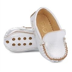 Baby Moccasin - Silver Leather by Dolly by Le Petit Tom | Infant Care Gifts | chapters.indigo.ca