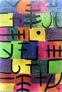 Circus 1929' - Pastel & Oil - Paul Klee.