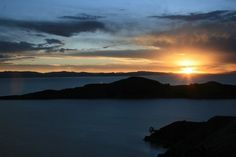 Sunset over Lake Titicaca from Isla del Sol Bolivia, South American Countries, Lake Titicaca, Sacral Chakra, South America Travel, American Country, Where To Go, Great Places, Places To Visit