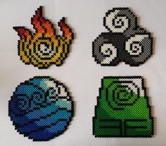 Avatar - Four nation symbols perler beads by Dan-Cooper