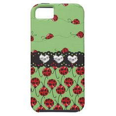 Mint Ladybugs Cover For iPhone 5/5S