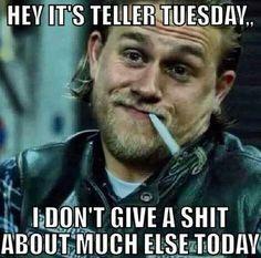 Teller Tuesday // Sons Of Anarchy // Jax Teller // Charlie Hunnam