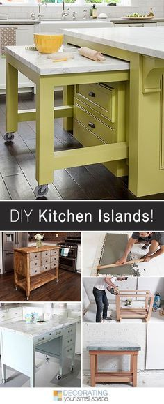 Why break the bank when you can find great DIY Kitchen Islands ideas? Kitchen/ Kitchen island/ Kitchen island ideas/ DIY/ Storage/ Small/ Large/ Unique/ With Sink/ With seating
