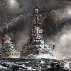 """We Rule the waves"" (By Mitchell Nolte) ¡Tag your friends please! #art #fanart #militaryart #military #navy #marina #buque #battleship #sea #waves #rule #beast #sailors #War #combat #navypower #buquedeguerra #guerra #marinero #barco #ship #warmachine #seamonster #warriors #navyart #arte #pintura"