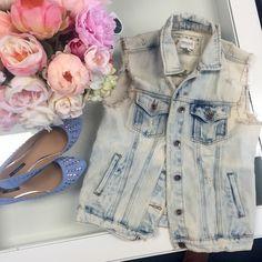 Spotted while shopping on Poshmark: Jean vest! #poshmark #fashion #shopping #style #Forever 21 #Jackets