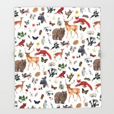 Buy Wild Woodland Animals Throw Blanket by isabellesykes. Worldwide shipping available at Society6.com. Just one of millions of high quality products available.