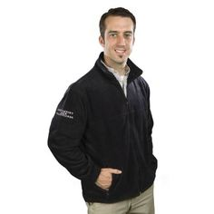 """Staying warm will never be an issue with this Men's Full-Zip Fleece with Embroidered """"Respiratory Care"""" Logo."""