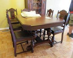 This Item Dining Room Table And Chairs Is Part Of The Online Auction Kingston Ontario Canada Estate