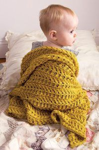 Knitting pattern for Ivy Baby Blanket