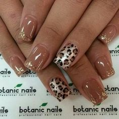 Leopard print with neutral color.
