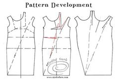 A tricky piece of #TuckedDrape here! Try your hand. #PatternPuzzle - Simple Tuck Shift  #PatternMaking