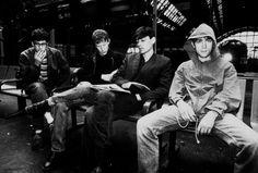 Blur - Graham Coxon, David Roundtree, Alex James & Damon Alburn   circa 1994