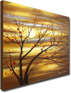 Blushing Flower Sequence Blushing Flower Sequence Limited Canvas Artwork Hand Painted Original Canvas Art 32 Wide X 32 Tall Single Canvas Painting Abstract Tree Painting, Flower Painting Canvas, Simple Acrylic Paintings, Canvas Artwork, Diy Painting, Tree Painting Easy, Painting Canvas Crafts, Abstract Art, Tree Canvas
