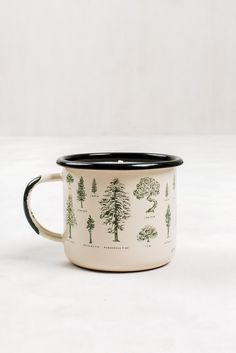 Evergreen Enamel Steel Mug Candle | United By Blue - 1