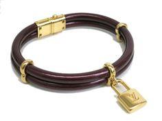 Louis Vuitton Keep It Twice Bracelet Enamel Bordeaux M6643F (BF056747)