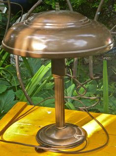 Saucer Lamp Machine Age Lamp 1930s Art Deco Lamp by CasaKarmaDecor, $90.00