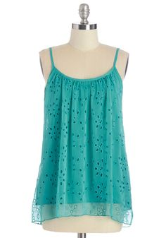 Beckoning Breeze Tank. When soft, summer wind starts to call, feel its warmth all around you by donning this airy tank top. #blue #modcloth