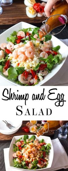Packed with Shrimp and chopped hard boiled eggs, this hearty recipe from Erren's Kitchen for Shrimp and Egg Salad makes a healthy and delicious lunch or light dinner.