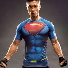 Batman vs Superman? Of course superman is stronger. Grab yourself this moisture wicking Superman Compression Shirt today while supplies last! - Wear-Resistant - UV Protection - Breathable - Quick-Dry