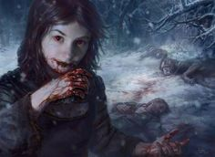 Magic the Gathering Art by Ryan Yee, via Behance - Blood Bairn Arte Horror, Gothic Horror, Horror Art, Gothic Art, Vampire Girls, Vampire Art, Magic The Gathering, Dungeons And Dragons, Mtg Art