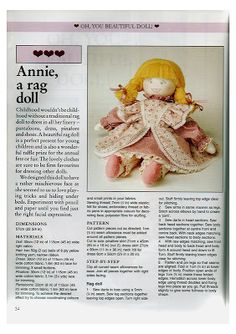 Mimin Dolls: annie doll wool hair