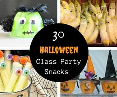 From Store-bought to Spooktacular! 30 store-bought and pre-packaged Halloween classroom party snack ideas