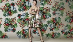 Flowers Vs Flowers: Floral sun dress A summer print popeline sun dress is an essential item of your holiday wardrobe. Dolce FW 2014 Womenswear Floral Print Brocade Suit