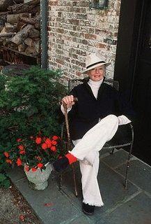 Katharine Hepburn, 1987. I would like to age as gracefully as Kate.