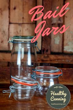 Bail lid jars have a two-part wire clasp attached to the top of them. Newer-style French Le Parfait, English Kilner and Italian Fido jars operate