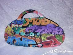A #graffiti #bag Graffiti, Lunch Box, Bags, Fashion, Handbags, Moda, Fashion Styles, Taschen, Purse