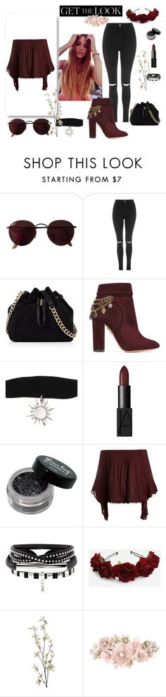 """""""Sem título #248"""" by bear-pretty ❤ liked on Polyvore featuring Ray-Ban, Topshop, Karen Millen, Aquazzura, NARS Cosmetics, Sans Souci, Pier 1 Imports and Accessorize"""