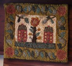 two houses flower u0026 leaf border cat rugsrug