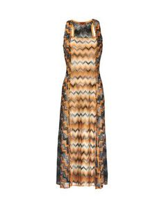 Long dress with square neck and splits at the front, made of a mix of snakeskin effect fabrics in viscose and lurex viscose. Soft fit