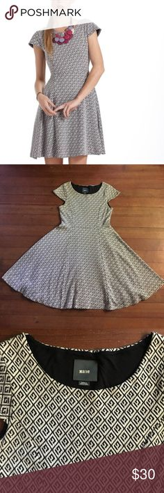 "Anthropologie  Maeve Jacquard Circle Skirt Dress Beautiful dress from anthropologie! This dress is extremely soft and very comfortable!!                                                          Waist- 14"" flat.       Length- 34"" Anthropologie Dresses"