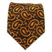 Garden Paisley - Orange/Brown/Gold - Garden Paisley - Orange/Brown/Gold Ties