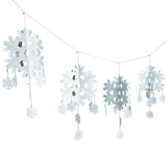 $10.00 Dimensional Snowflake Garland - OrientalTrading.com