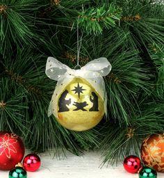 Nicole™ Crafts Vinyl Nativity Ornament #ornaments #craft #christmas by melva