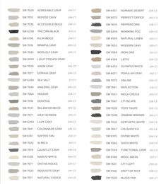 See the most popular TOP 50 BESTSELLING PAINT COLORS from Sherwin Williams! Wall and trim paint color design inspiration! #sherwinwiliams #bestselling #paint #colors #walls #trim #color #popular #colorscheme #designer #decorating #interiors #livingroom #bedroom #interiordesign Trim Paint Color, New Paint Colors, Neutral Paint Colors, Coastal Paint Colors, Exterior Paint Colors, Popular Paint Colors, Wood Colors, Painted Interior Doors, Touch Of Gray