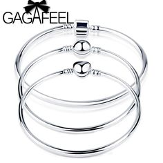 GAGAFEEL Good Quality Popular 3mm Thickness Single Chain fit Brand New Beads Charms DIY Bracelets amp Bangles For Women Men