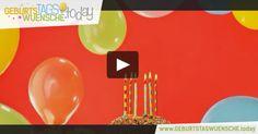 """Geburtstagswünsche - buntes Geburtstagsvideo mit dem schönen Geburtstagslied – """"Happy Birthday to you""""."""