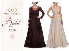 Bridal Wear 2016 by Priya Chhabria features a range of bridal sarees, Lehenga and gowns.   Give yourself a stunning look with this beautiful gowns on this wedding Season.  #priyachhabria #bridalwear #stunning #beautiful #weddingdress #indianweddings #weddingsutra #gowns #lehenga #anarkali #sarees #dress #weddingevenings #partywear #cocktailwear #mehandis #cocktails #sangeet #stylish #trendy #weddings #loveweddings