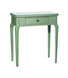 Consola de madera de abeto en color verde