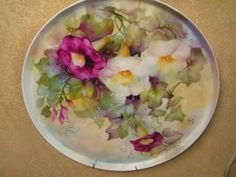 | Morning Glories on Porcelain - by Cherryl Meggs