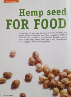 """Page 1 of a 4 page article on Hemp Foods in Australia's Organic Clean Food magazine - more on our FAQ at www.hempfoods.com.au/FAQ """"What are the media saying about Hemp Foods Australia"""""""