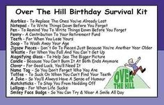 Humorous Birthday Survival Kit In A Can. Novelty Getting Old/Old Git Gift & Card