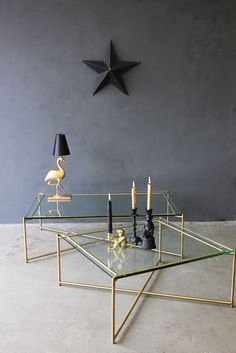 Clear Glass Coffee Table - Coffee & Side Tables - Furniture