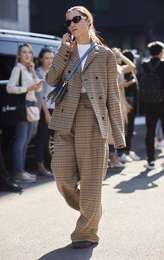 tailleur pantalon tendance oversize